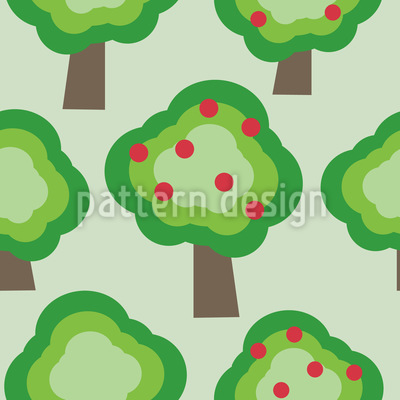 Appletrees Repeating Pattern