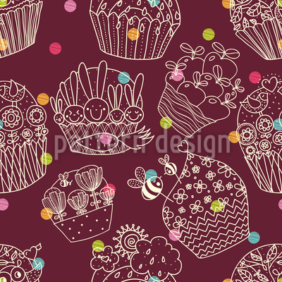 Basket Full Of Bunnies Seamless Pattern