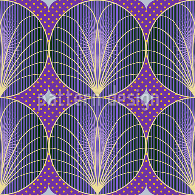 Art Deco Brunnen Nahtloses Vektor Muster