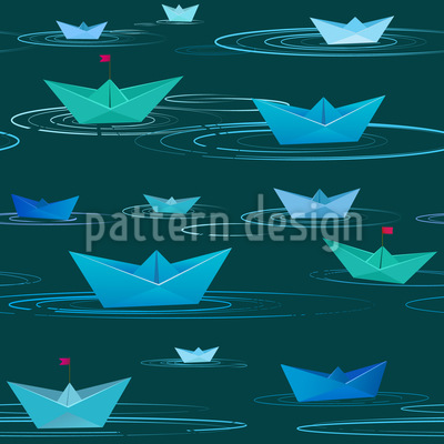 Paper Boats Repeating Pattern