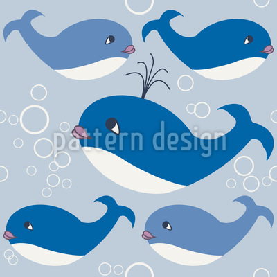 Whale Family Repeat Pattern