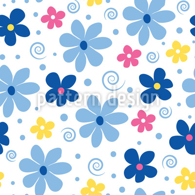 Blumen Freude Muster Design