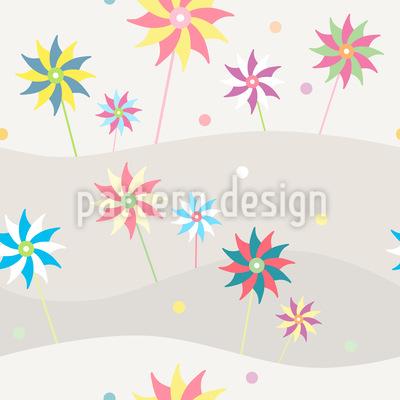 Wind Wheels On Vacation Pattern Design