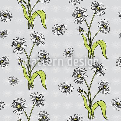 Gänseblümchen Grau Designmuster