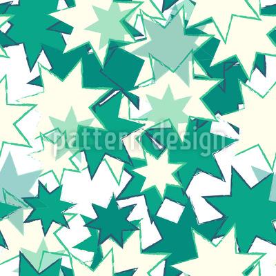 Wilde Retro Sterne Rapportiertes Design