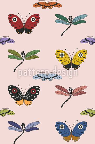 Butterfly Magic Seamless Pattern