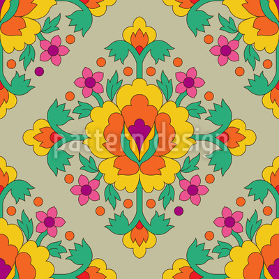 Medieval Flowers Vector Design
