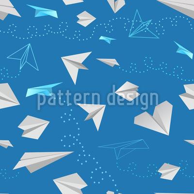 Papier Flieger Muster Design