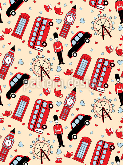 Reise Nach London Vektor Muster