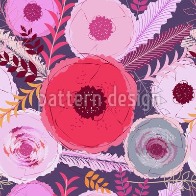 Mohnblumen Traum Muster Design