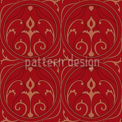 Loretta Red Seamless Vector Pattern