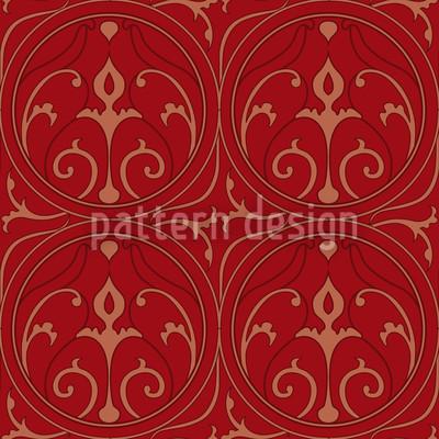 Loretta Rot Nahtloses Vektor Muster