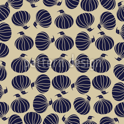 Onion Stock Seamless Pattern