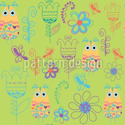 Papageno Paradise Seamless Vector Pattern