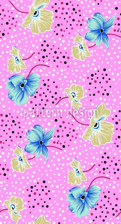 Blüten Und Punkte Rapportmuster