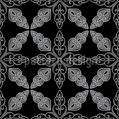 Moroccan Black Vector Pattern