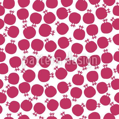 Granatapfel Ernte Muster Design