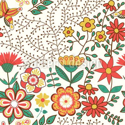 Blumengarten Musterdesign