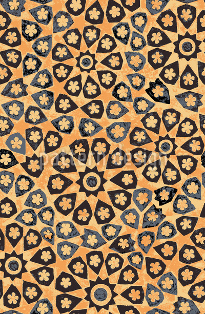 Archaisches Mosaik Muster Design