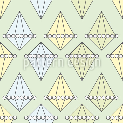 Pearls And Diamonds Pattern Design