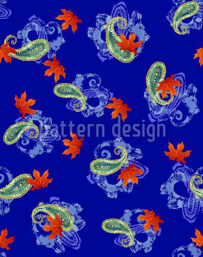 Paisley Blatt Melange Vektor Muster