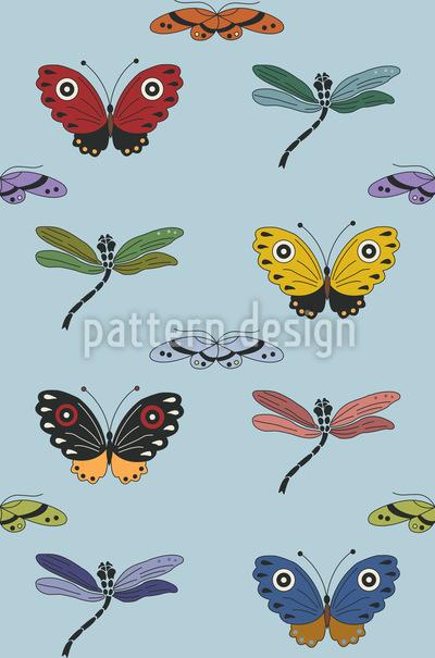 Insekten Zauber Nahtloses Muster