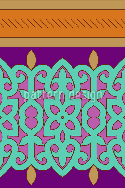 Orientalische Bordüre Designmuster