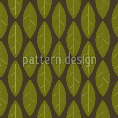 Large Leaves Vector Ornament