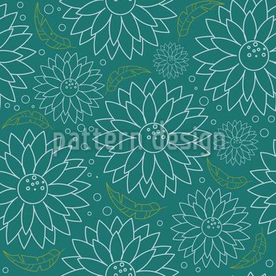 Blooming Flowers Vector Pattern