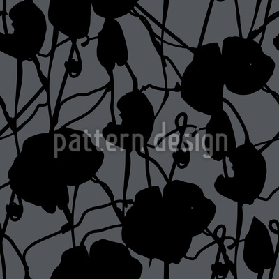 Ink Flora Repeating Pattern