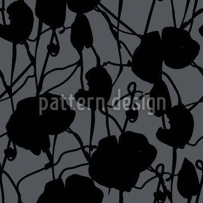 Tusche Flora Rapportiertes Design