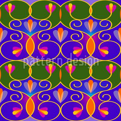 Schnörkel Und Ranken Muster Design