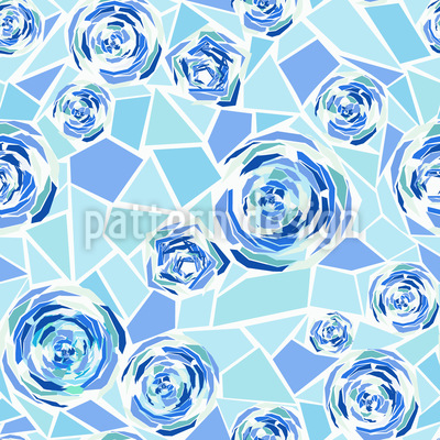 Rose Mosaic Repeat Pattern