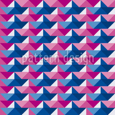 Paper Boat Regatta Pattern Design