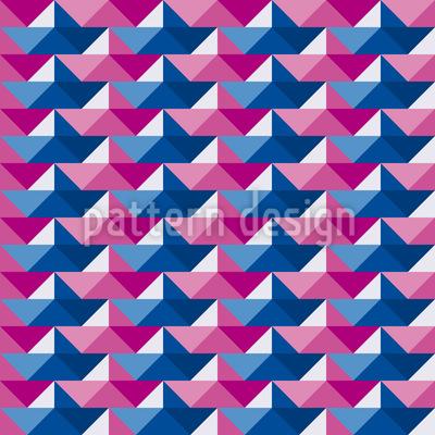 Papierschiffchen Regatta Musterdesign