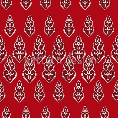 Delilahs Nacht Rot Vektor Ornament