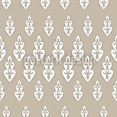 Delilahs Night Beige Seamless Pattern