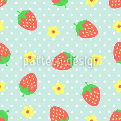 Erdbeer Eisbecher Rapportmuster