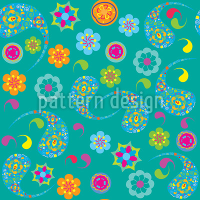 Paisley Blüte Muster Design
