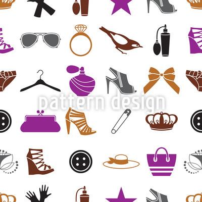 Fashion Accessories Seamless Pattern