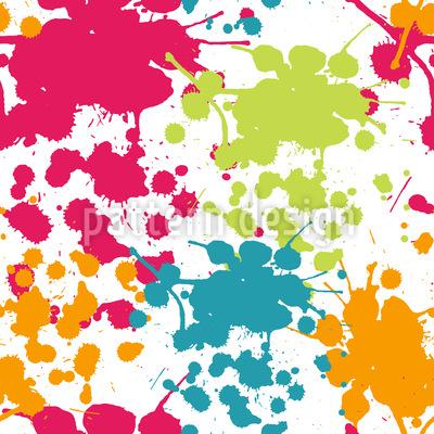 Sprühfarben Spritzer Rapportiertes Design