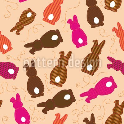 Bouncing Bunnies Pink Vector Design