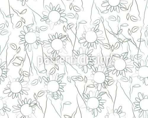 Romantische Blümchen Nahtloses Muster