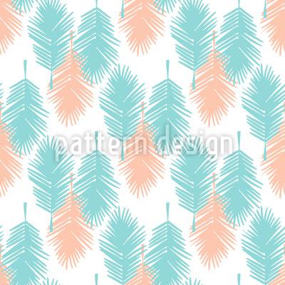 Palmenblatt Tropicana Nahtloses Vektor Muster