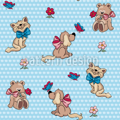 Cute Animals Repeat Pattern