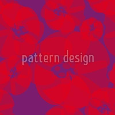 Mohnblumen Pop Art Musterdesign