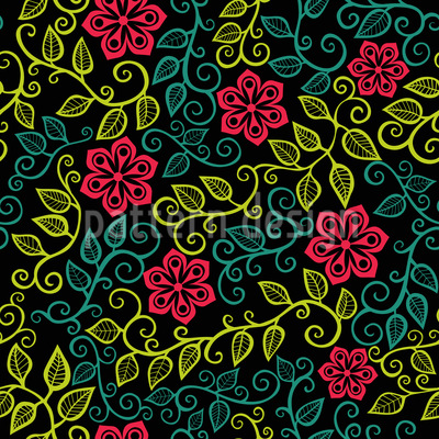 Starflower Garden Vector Design