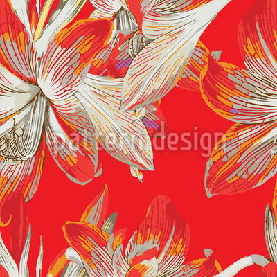Fire Lily Repeat Pattern