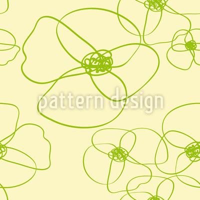Mohnblumen Scribble Musterdesign