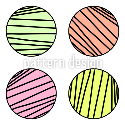 Gestreifte Kreise Designmuster